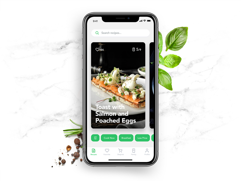 perfect recipes app ui design tubik