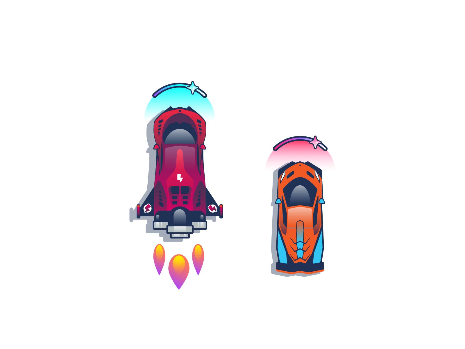racing car illustrations nitro graphic design
