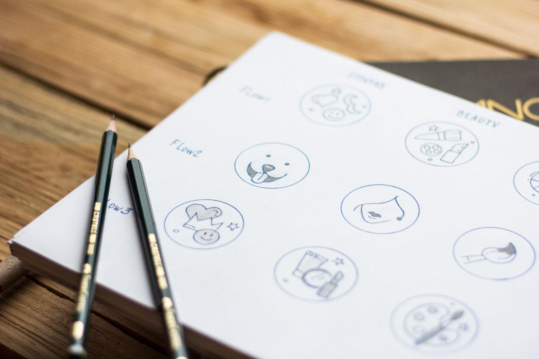 sketching icons graphic design process tubik