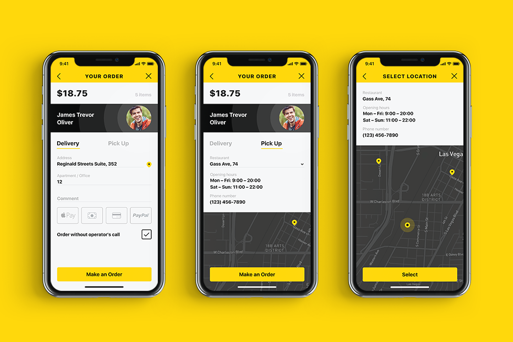 tasty burger ui design delivery screens tubik