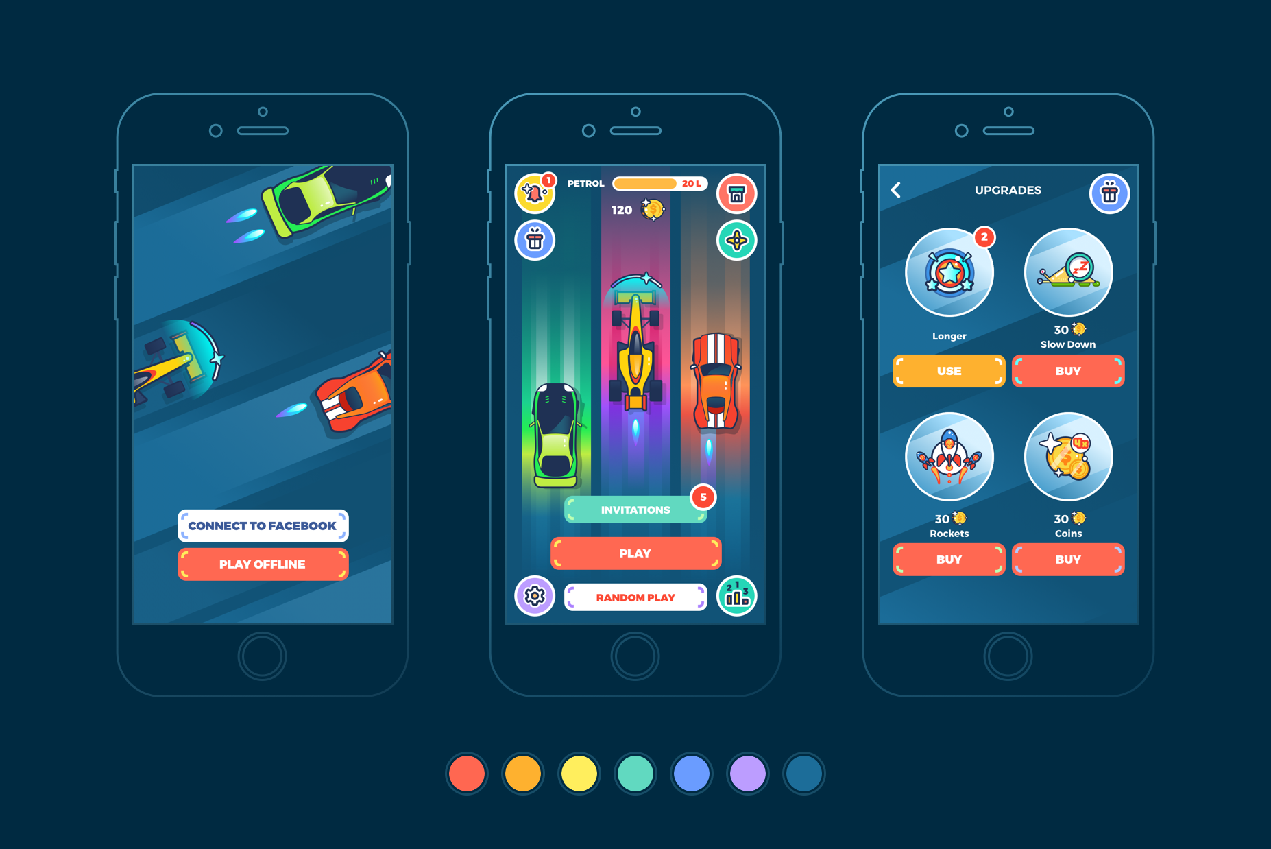 ui design for mobile game racing