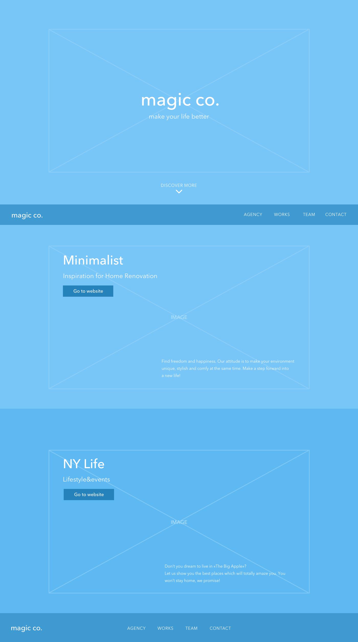 UX design landing page