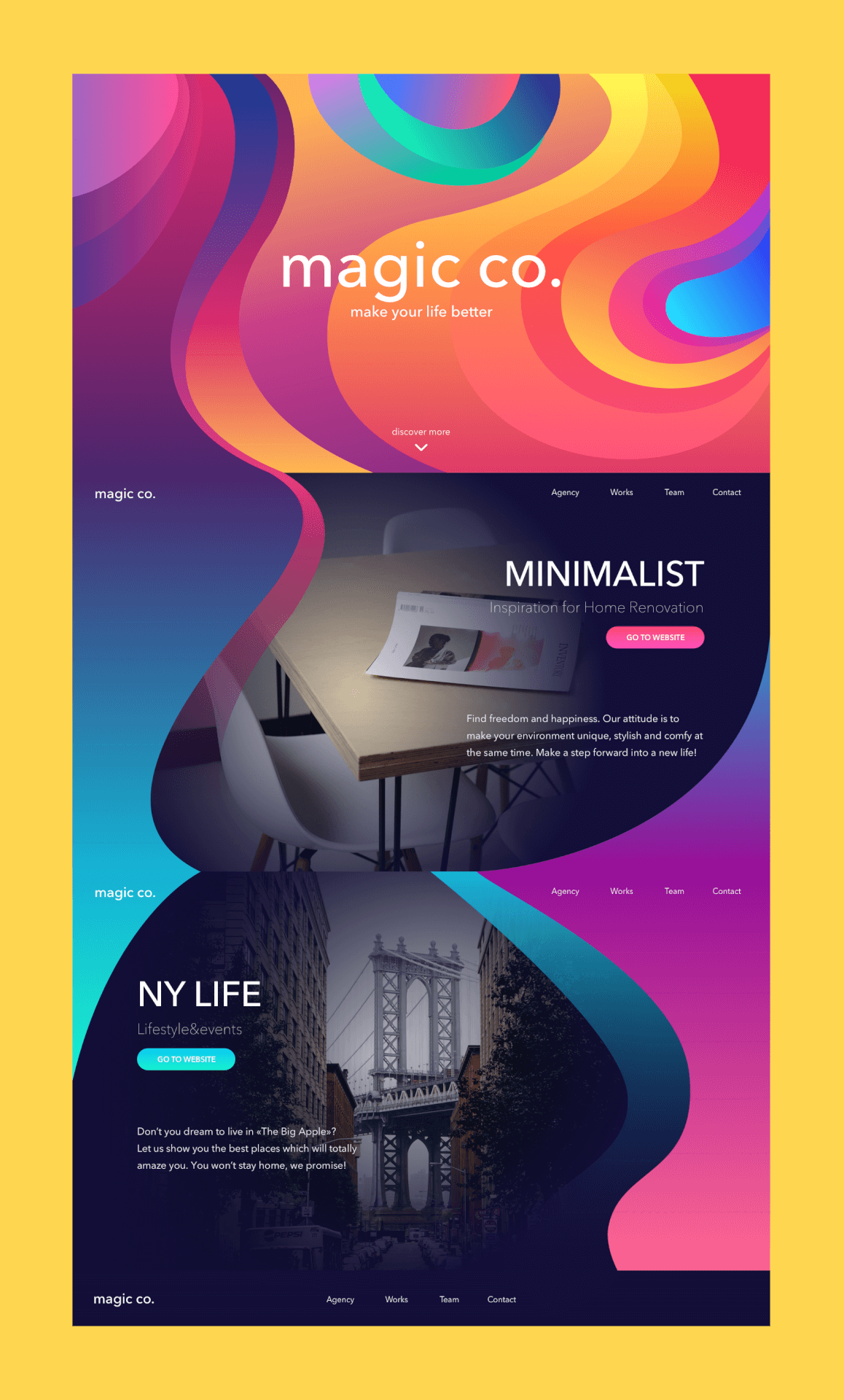 landing page design for service