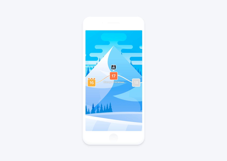mobile game levels UI design