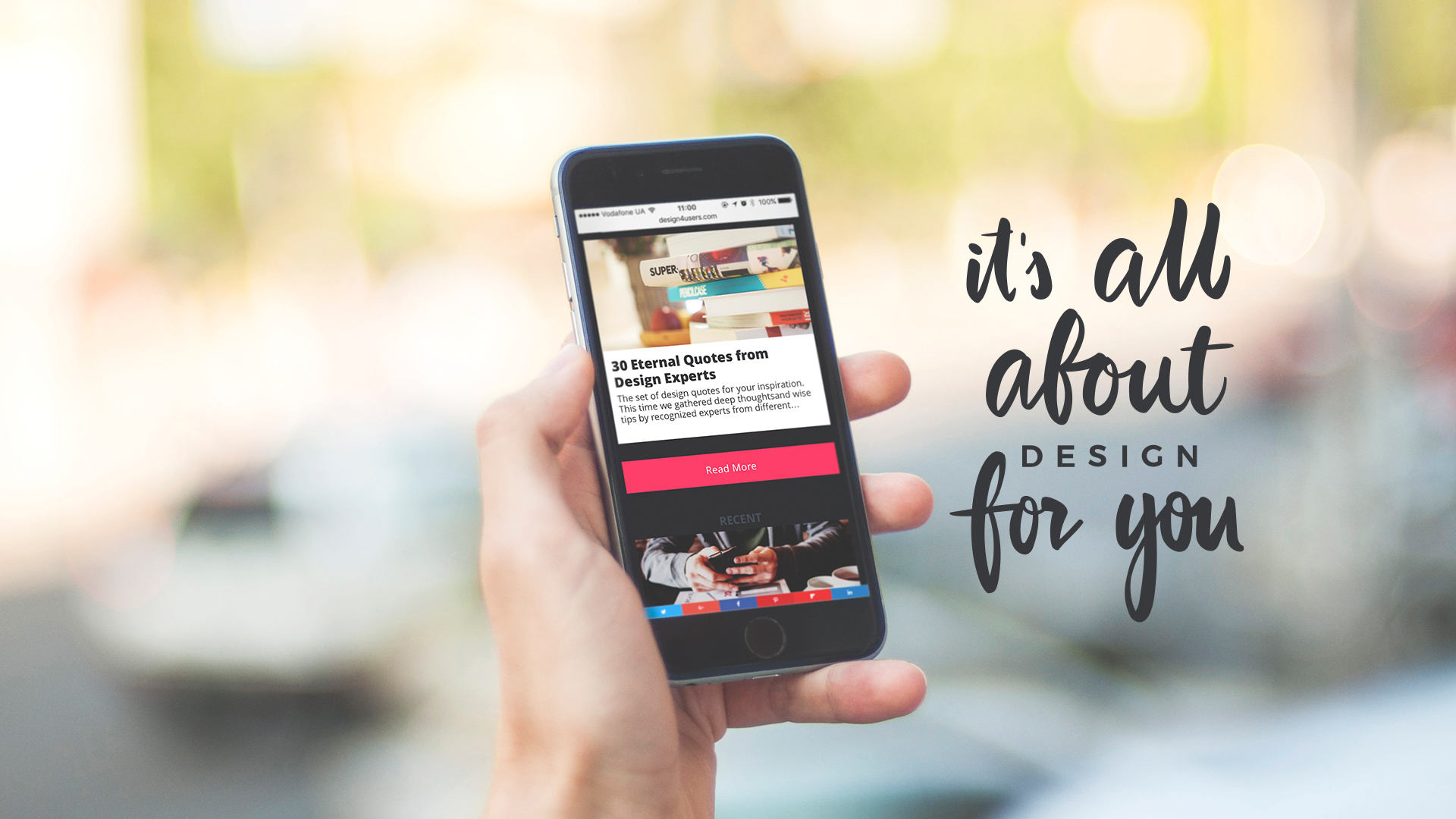 D4U blog on mobile