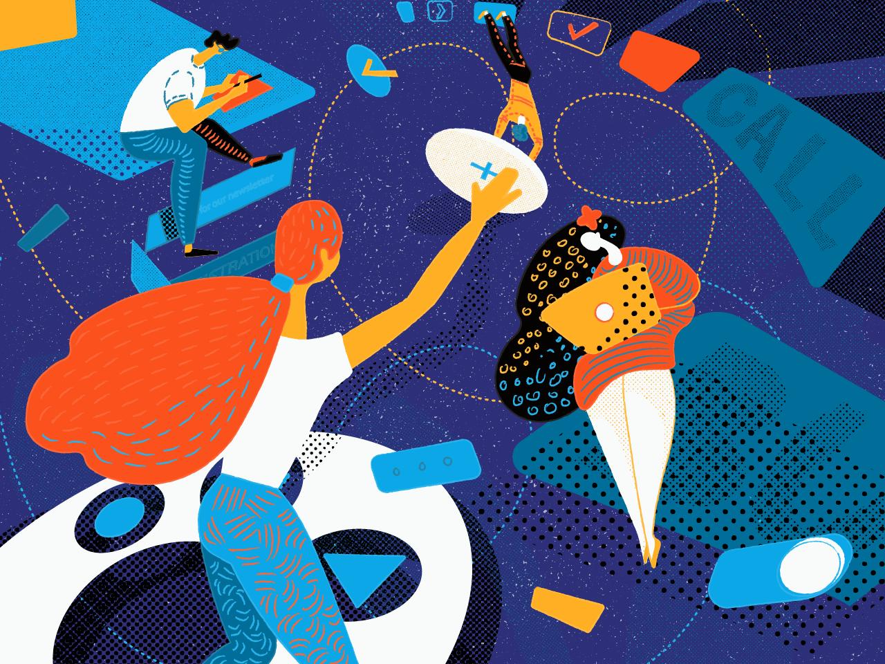 buttons magic illustration tubik_graphic_design