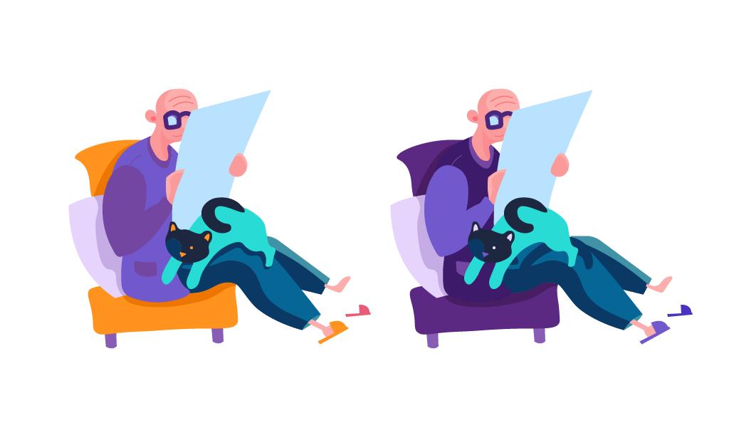 color scheme digital illustration