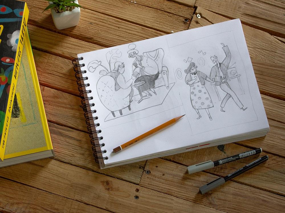 florence app illustrations sketch