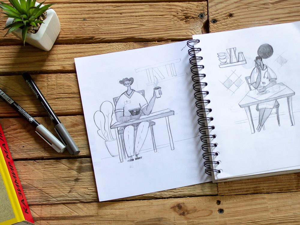 florence app illustrations