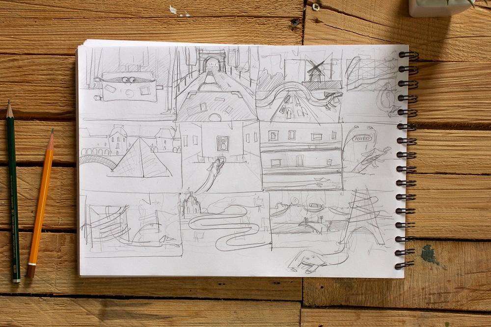 graphic design illustration sketch