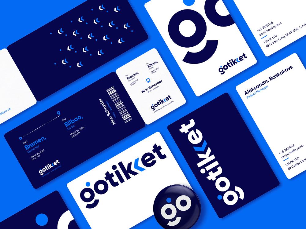 logo design gotikket service tubik