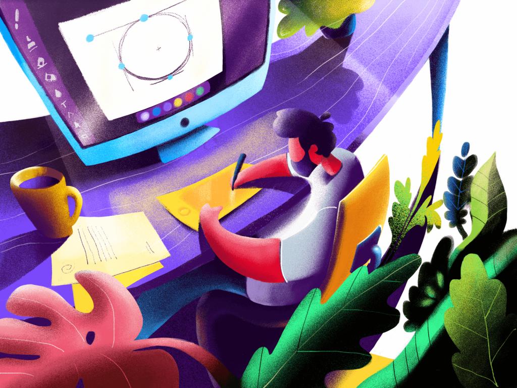 design workspace illustration tubik