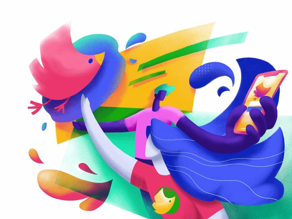 mascot power illustration tubik design