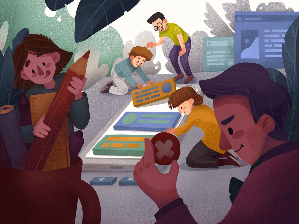 creative teamwork design illustration