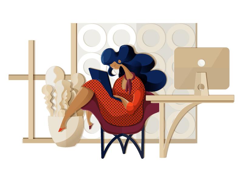 designer process illustration