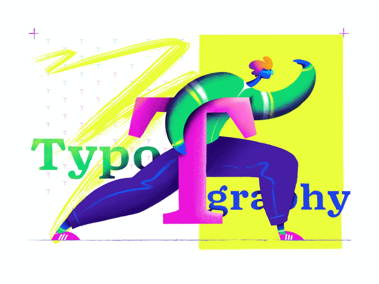 typography illustration design