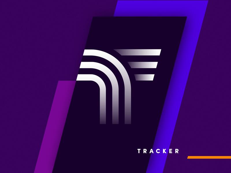 Tracker logo design tubik