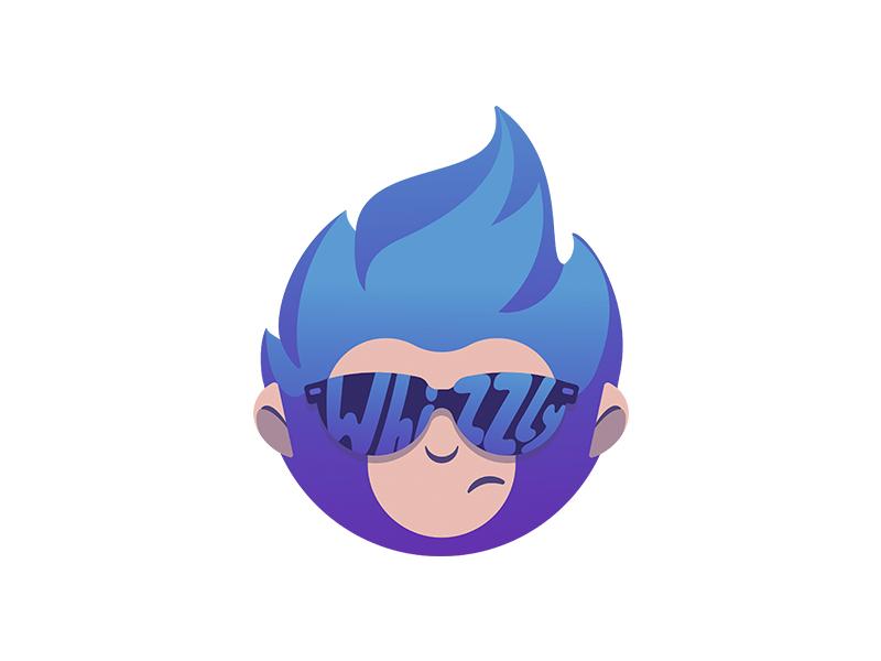 Whizzly mascot logo design tubik