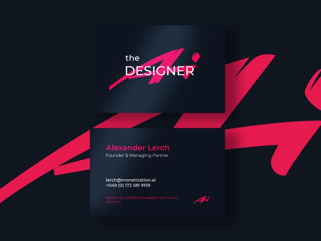 business card design ai designer