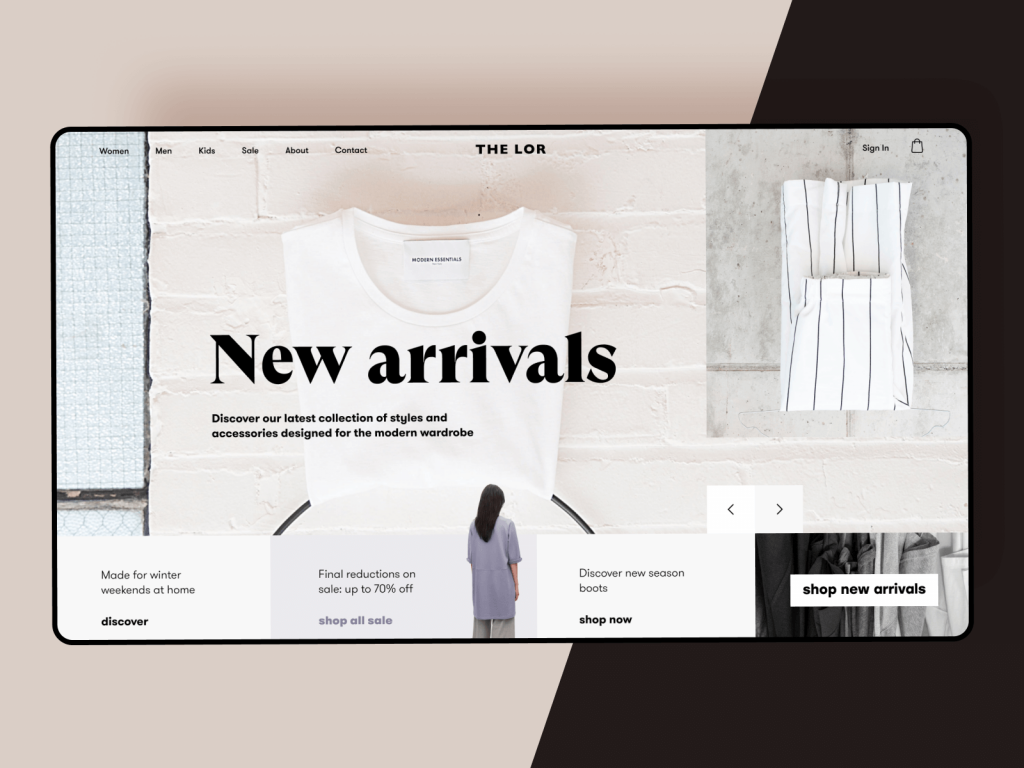 fashion store website design tubik