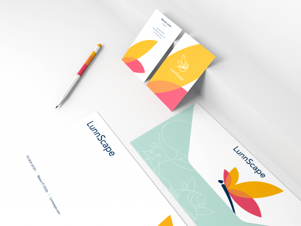lunnscape stationery elements design