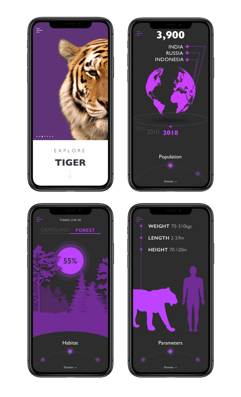 Nature Encyclopedia App Tiger