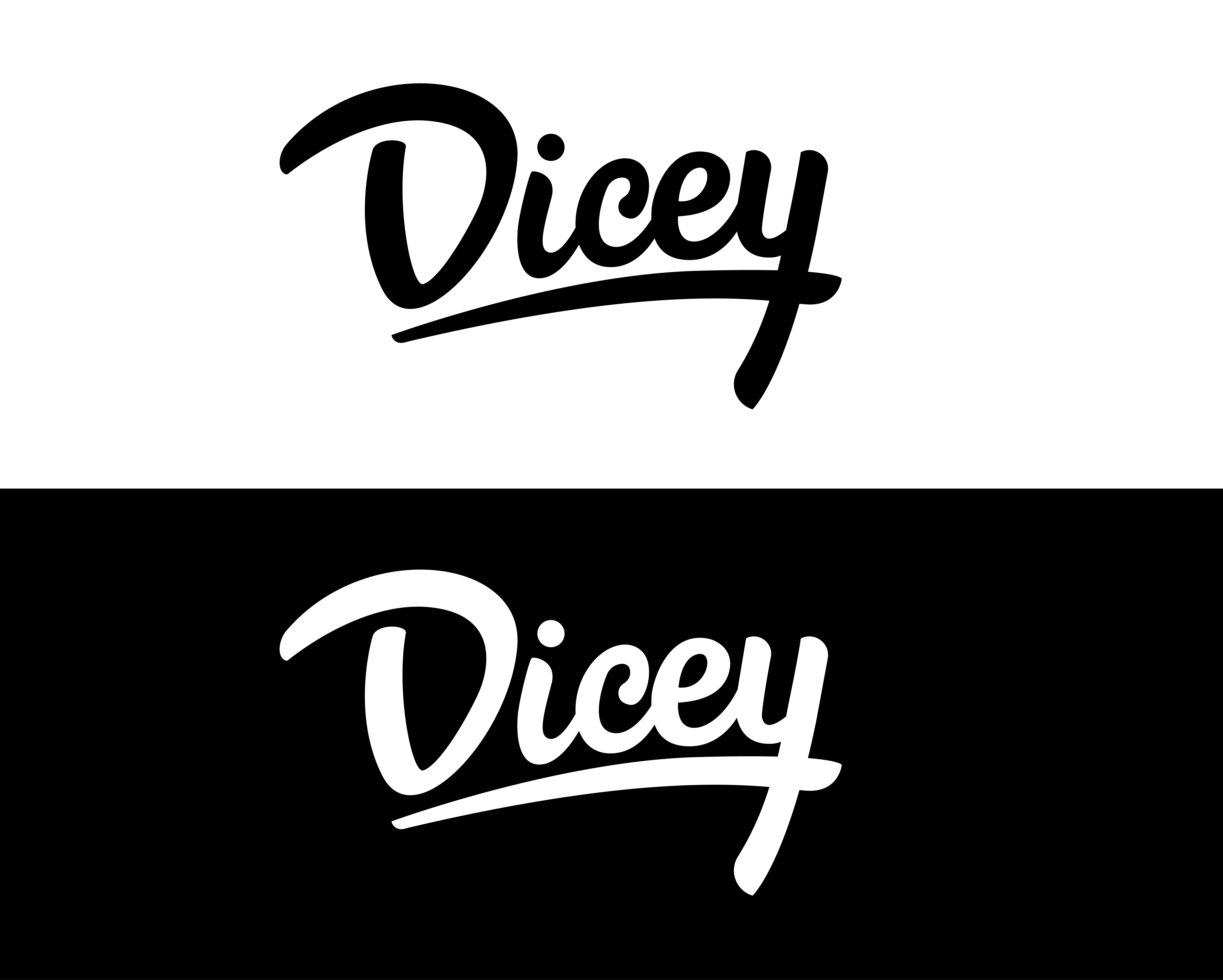 dicey design case study logo black and white