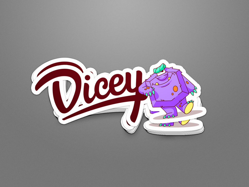 dicey design case study stickers