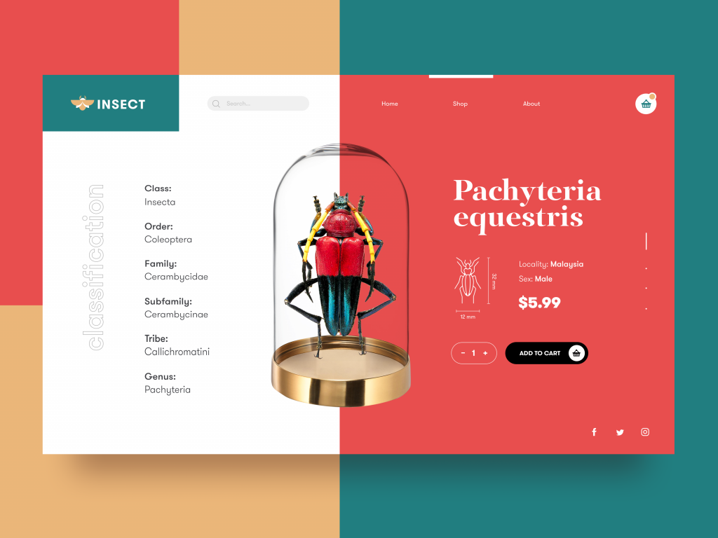 bugs store webdesign tubik