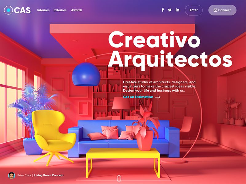 creativo arquitectos website ui design tubik