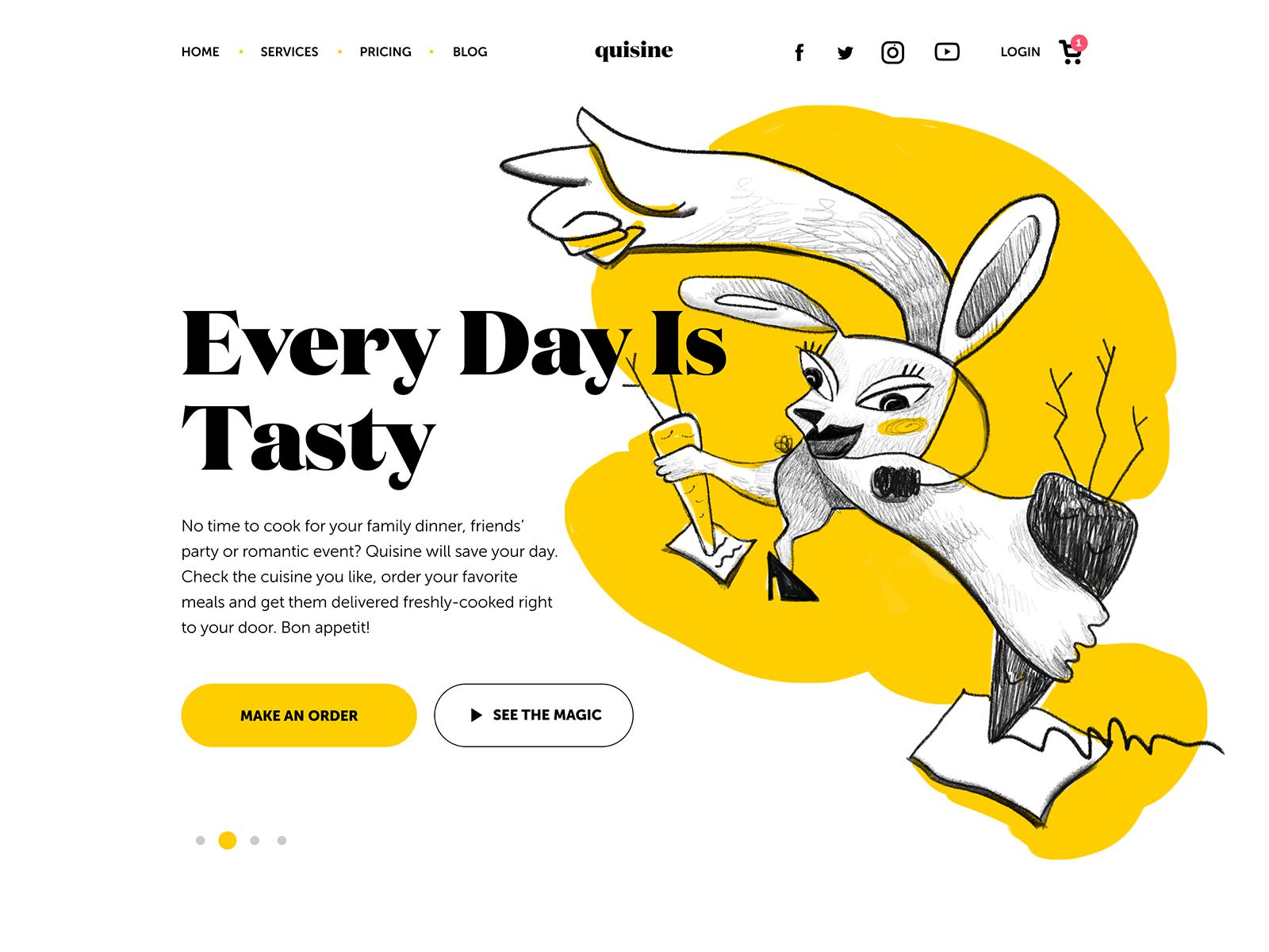 food delivery service website tubik