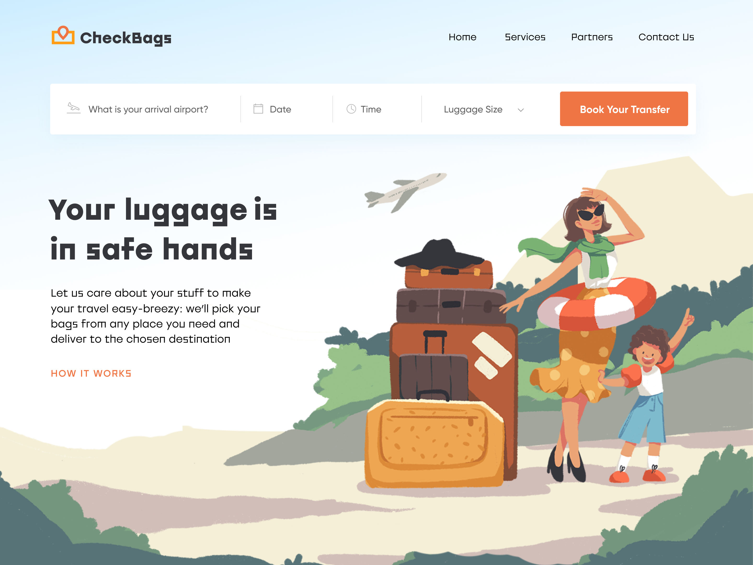 luggage delivery service website_tubik