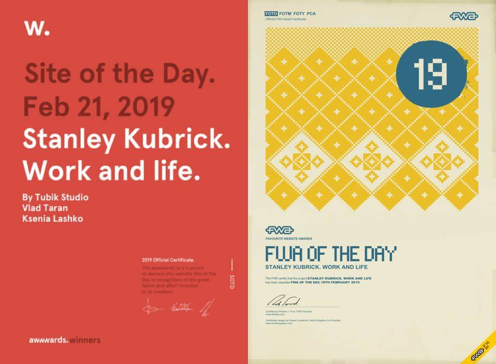 kubrick life awards