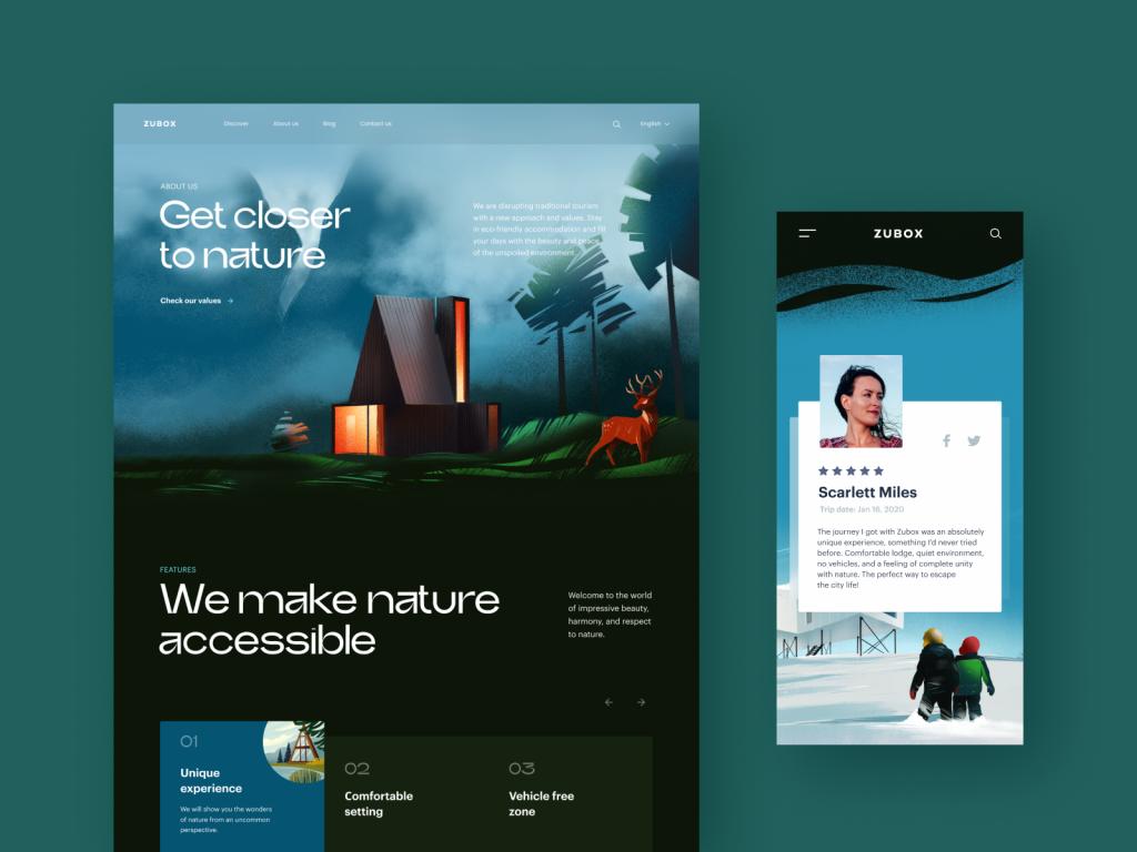ecotourism website design tubik studio