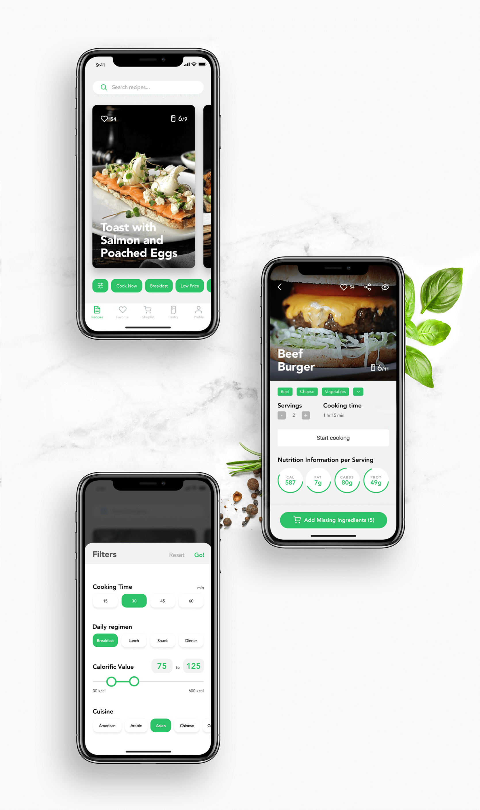 Case Study Perfect Recipes App Ux Design For Cooking And Shopping