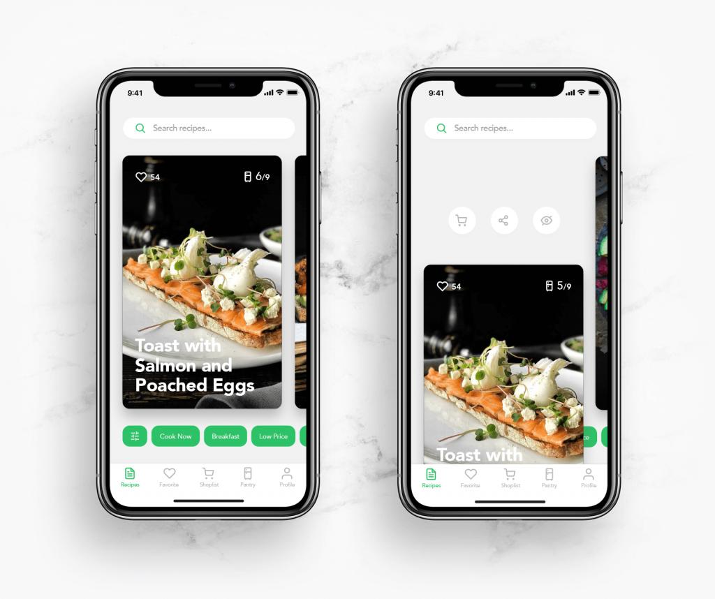 perfect recipes app design