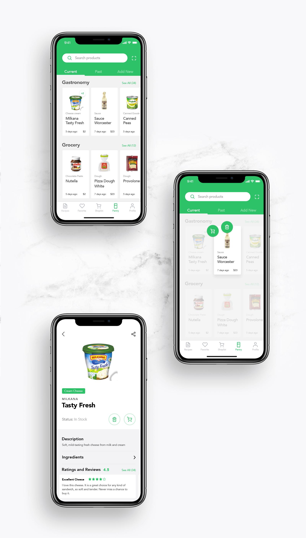 perfect recipes app ui design