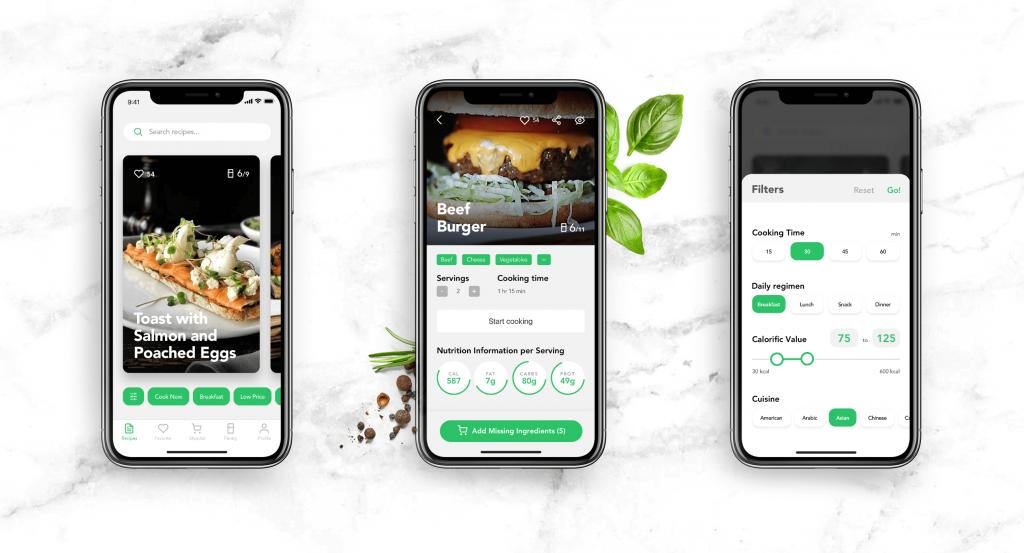 perfect recipes mobile ui ux design_tubik