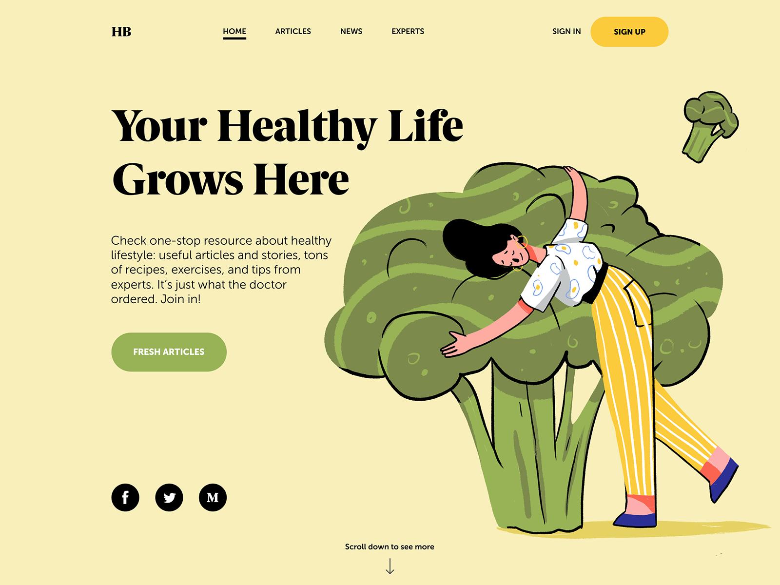 health blog webdesign tubik
