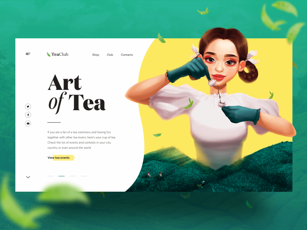 tea club website design tubik