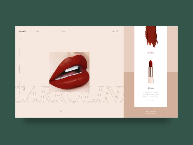 beauty ecommerce website design