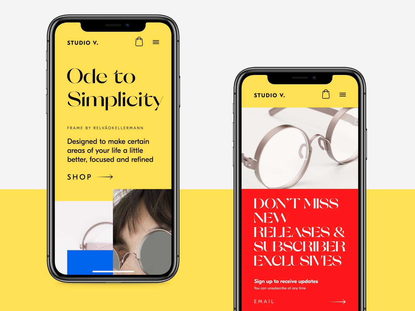 ecommerce website mobile ui tubik