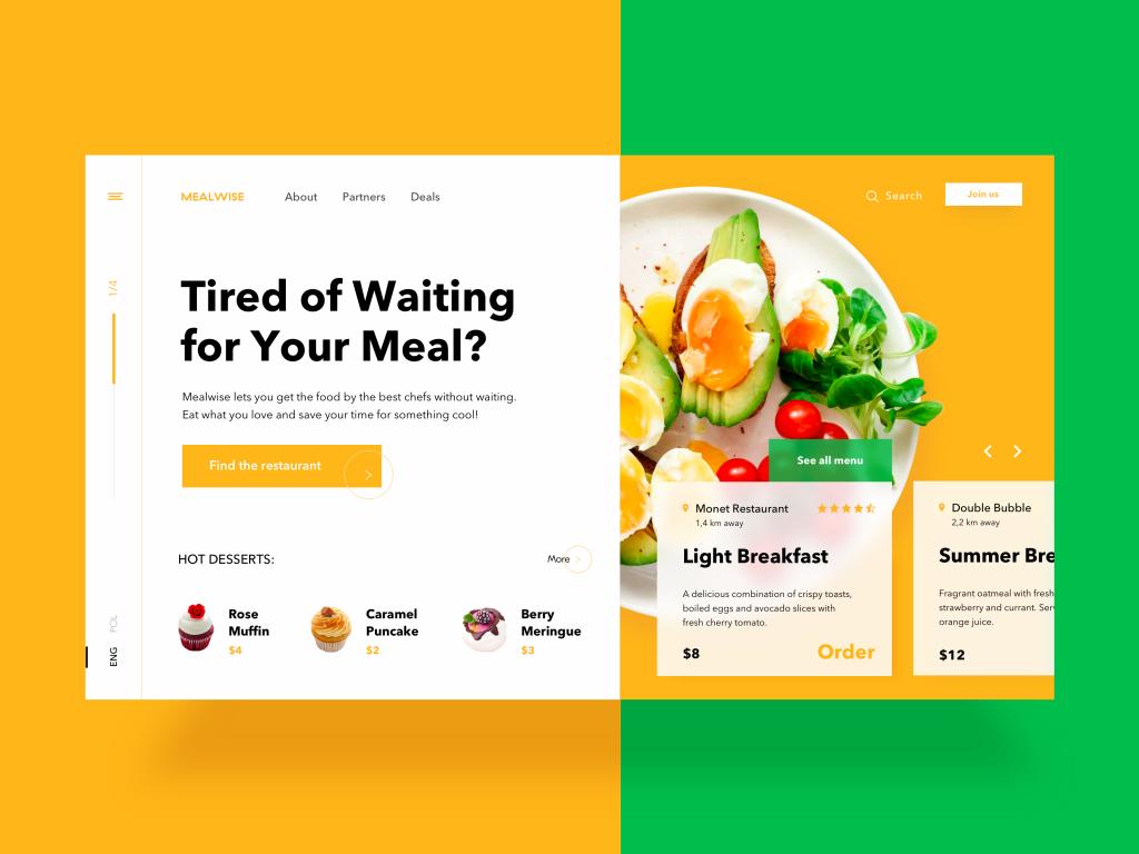 food order website design tubik