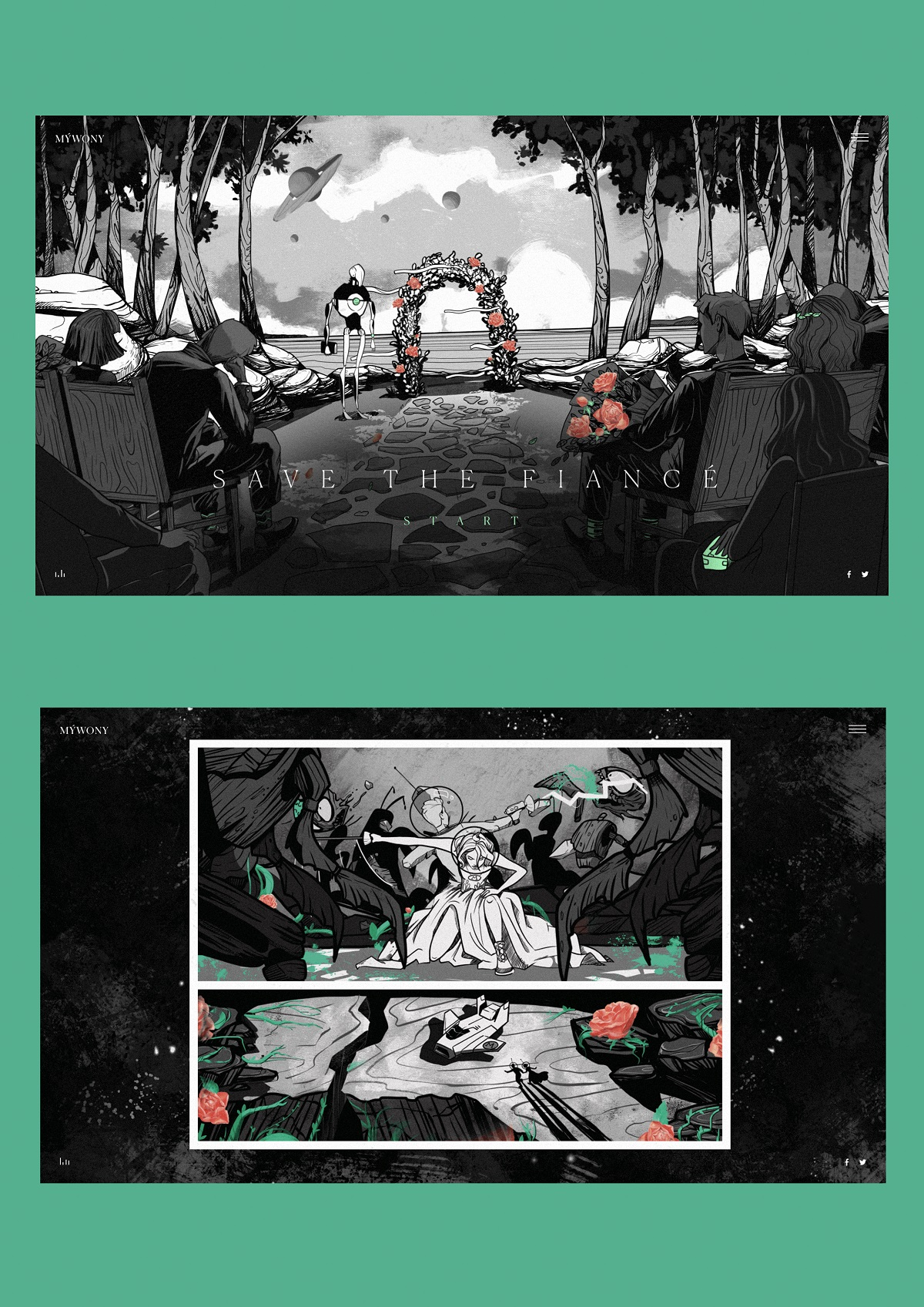 mywony storyboard illustrations