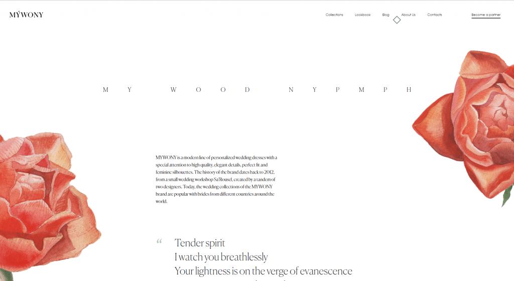 mywony website design
