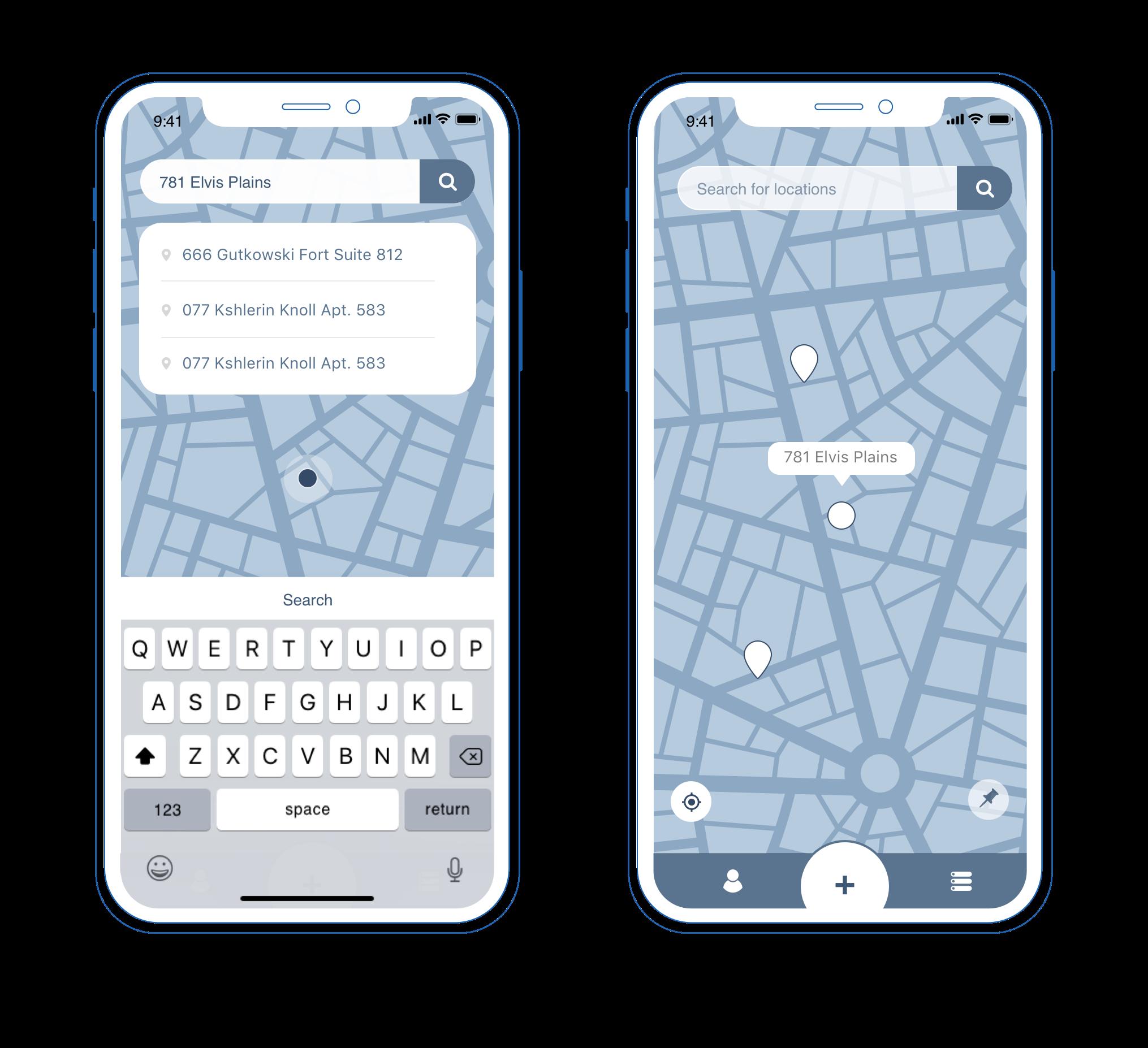 UX UI design pazi mobile app