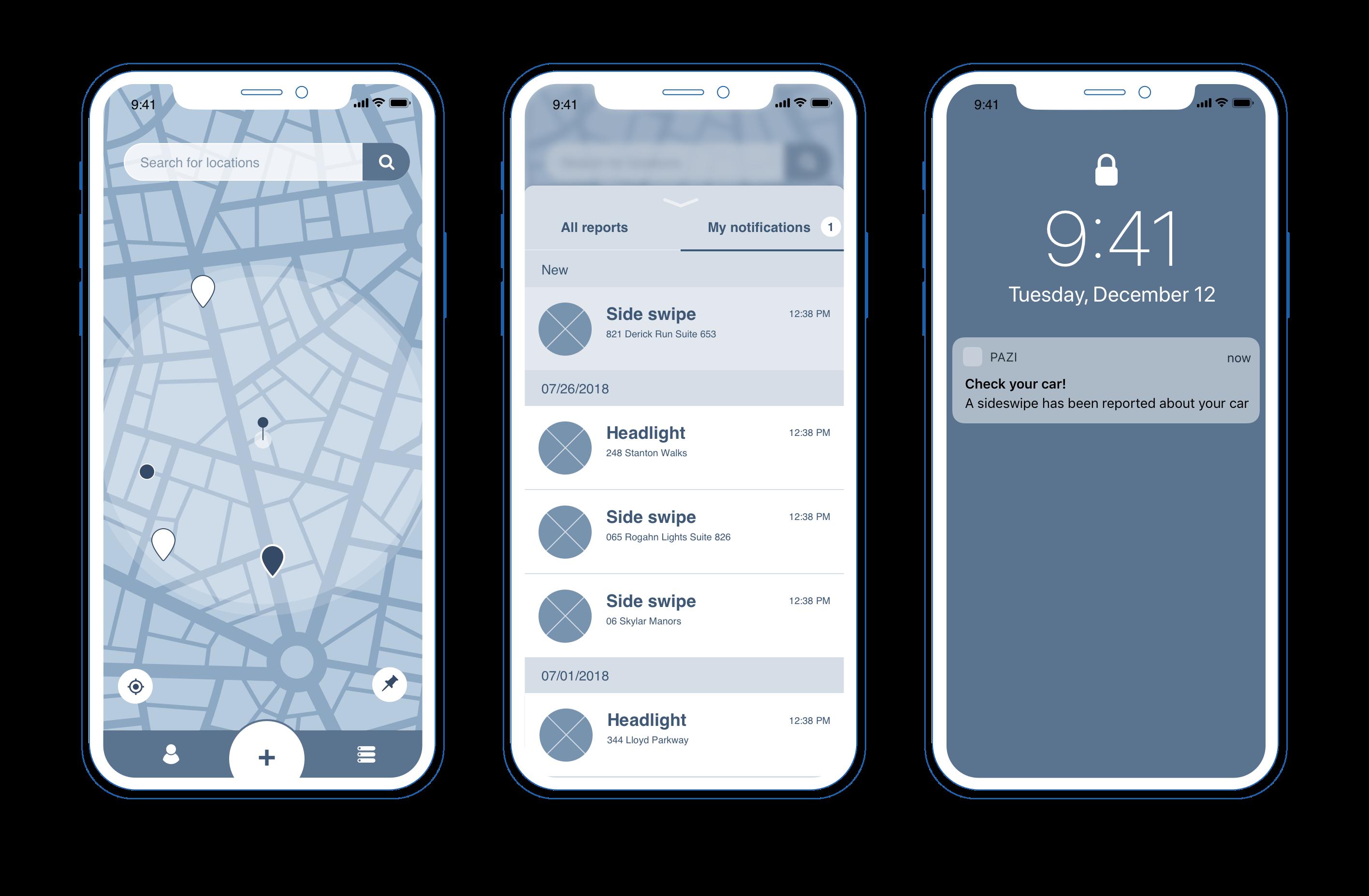 UX design pazi mobile app