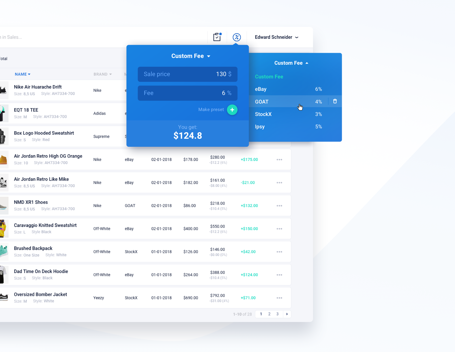 cashmetrics design user interface