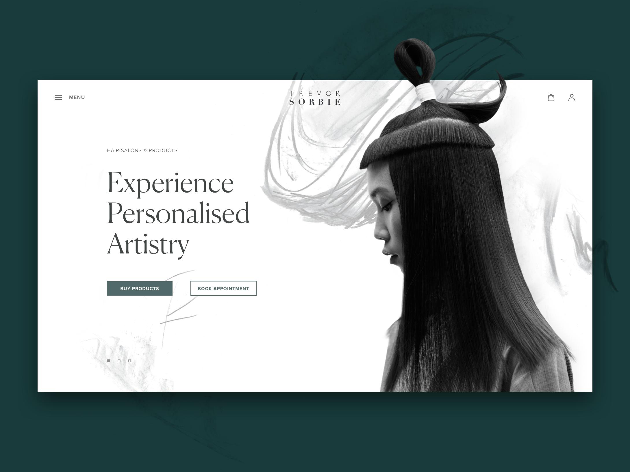 hair beauty website tubik