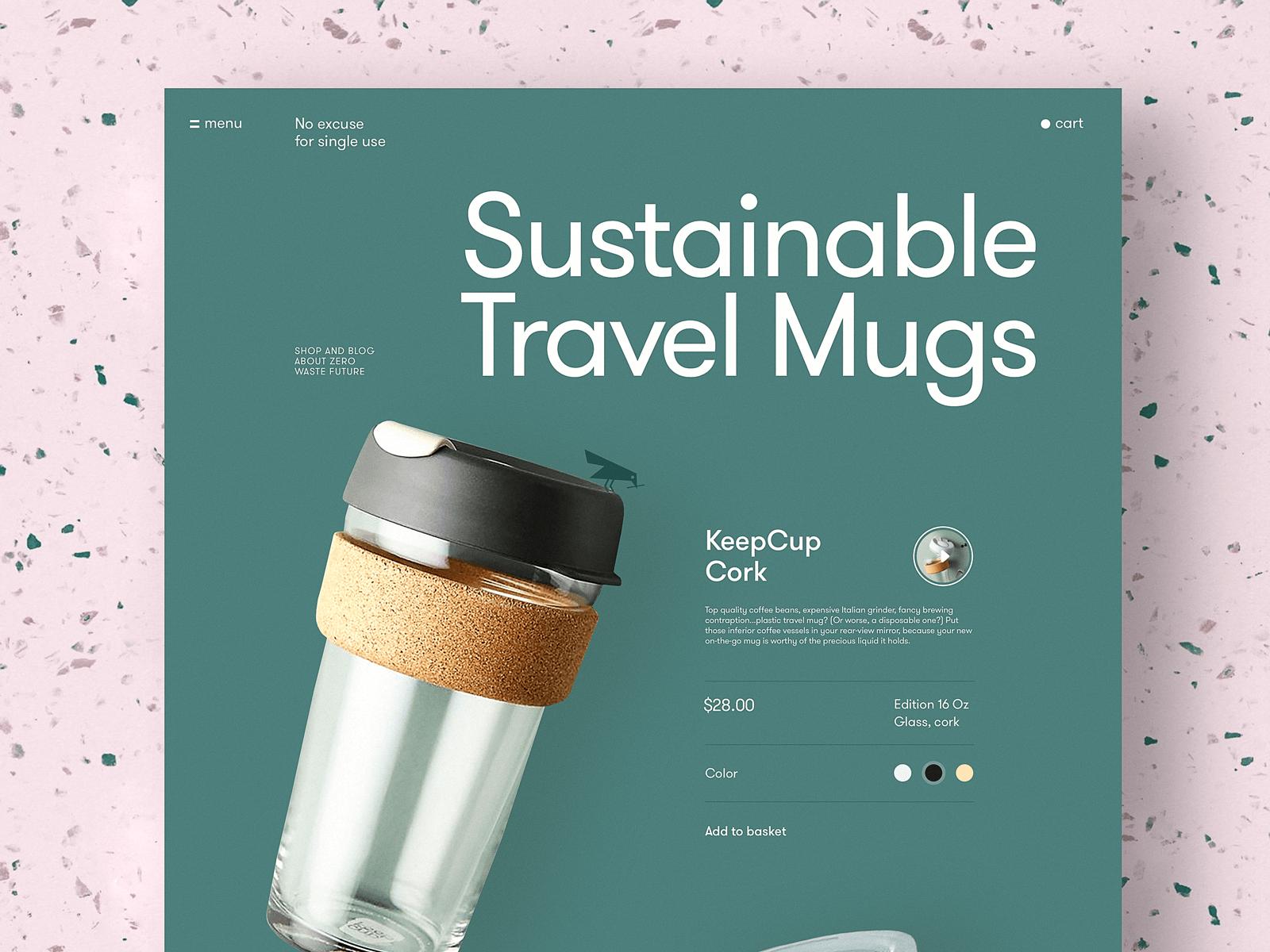eco mug product page tubik